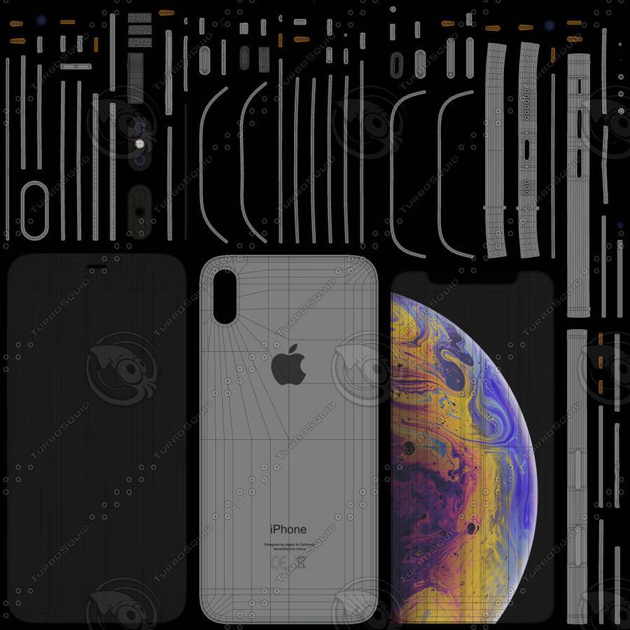 iPhone royalty-free 3d model - Preview no. 13