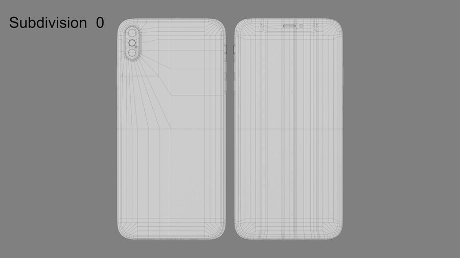 iPhone royalty-free 3d model - Preview no. 9