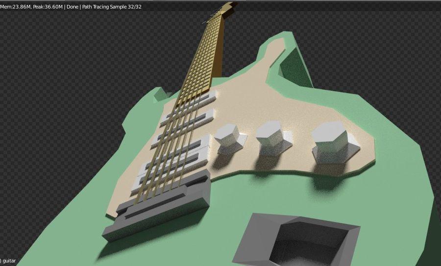 Guitarra elétrica royalty-free 3d model - Preview no. 13