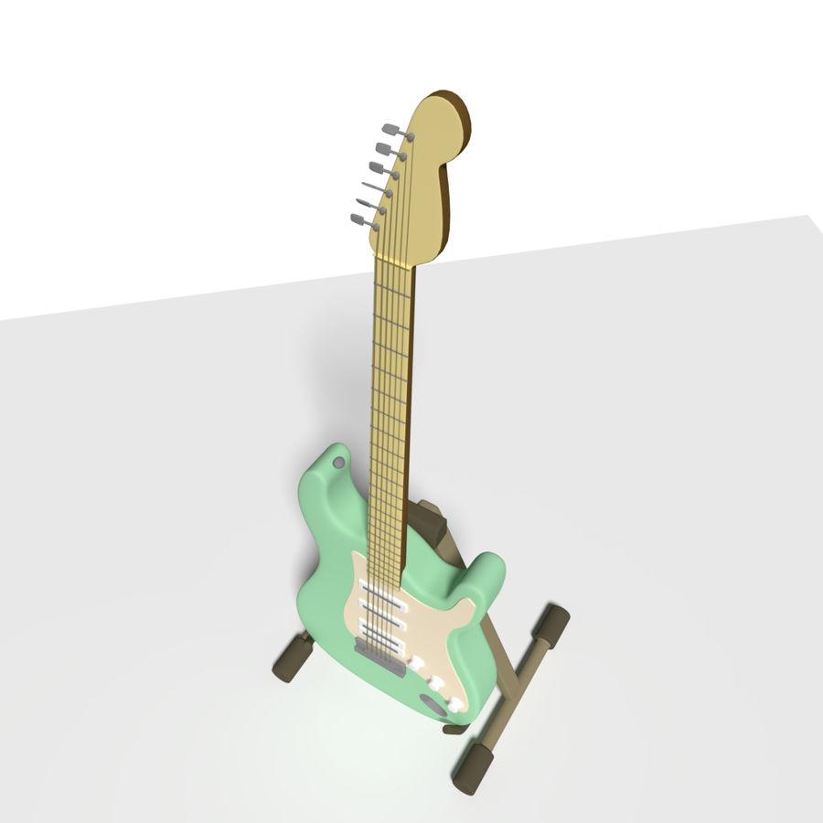 Guitarra elétrica royalty-free 3d model - Preview no. 2