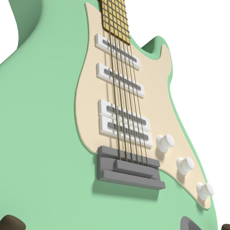 Guitarra elétrica royalty-free 3d model - Preview no. 3