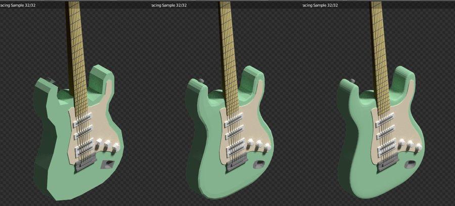 Guitarra elétrica royalty-free 3d model - Preview no. 12