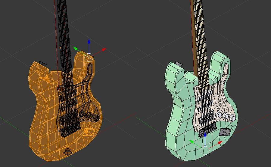 Guitarra elétrica royalty-free 3d model - Preview no. 8