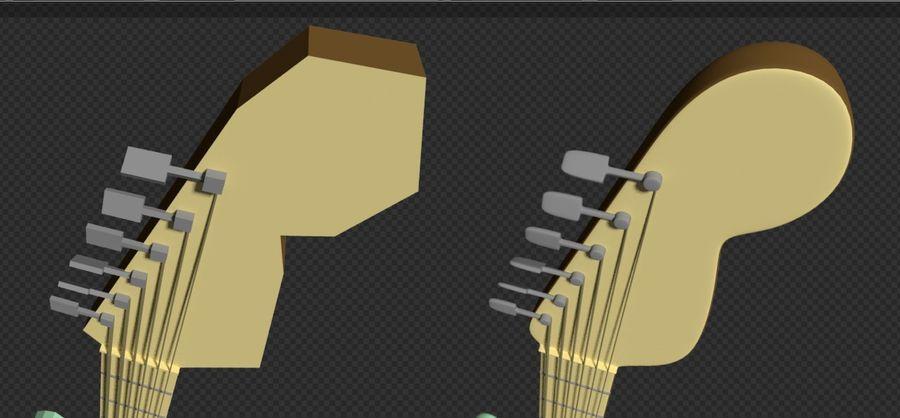 Guitarra elétrica royalty-free 3d model - Preview no. 7