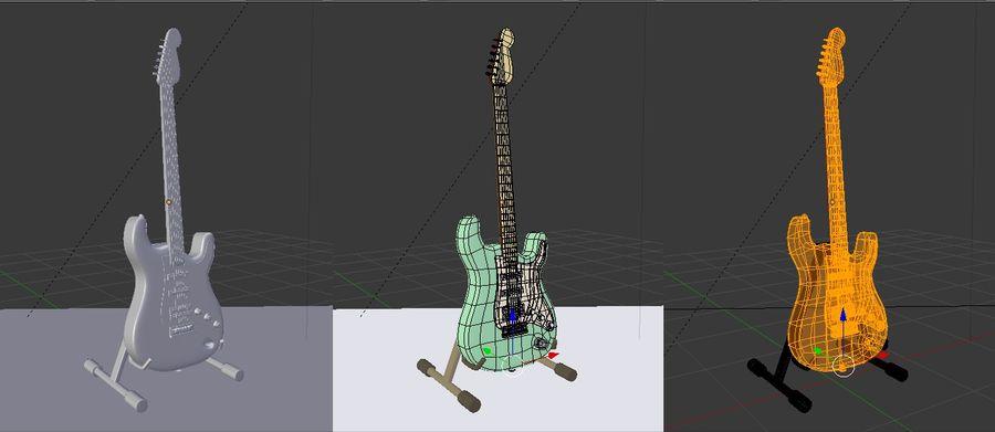Guitarra elétrica royalty-free 3d model - Preview no. 11