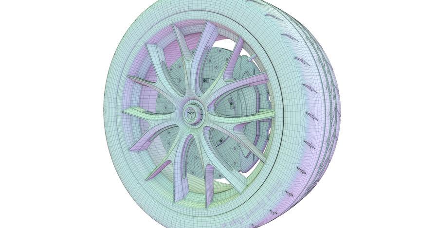ミシュランスポーツカータイヤ royalty-free 3d model - Preview no. 8