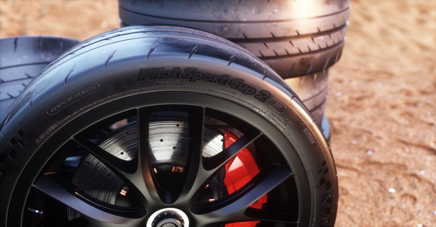 ミシュランスポーツカータイヤ royalty-free 3d model - Preview no. 16