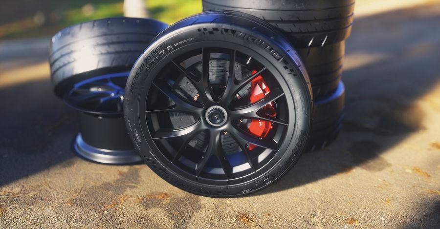 ミシュランスポーツカータイヤ royalty-free 3d model - Preview no. 10