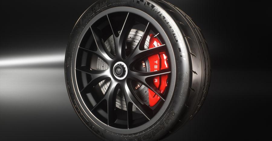 ミシュランスポーツカータイヤ royalty-free 3d model - Preview no. 7