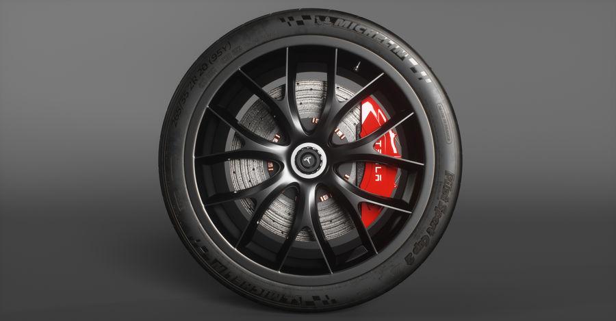 ミシュランスポーツカータイヤ royalty-free 3d model - Preview no. 3