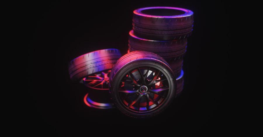 ミシュランスポーツカータイヤ royalty-free 3d model - Preview no. 24