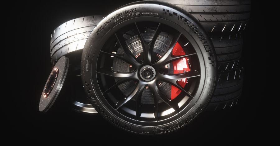 ミシュランスポーツカータイヤ royalty-free 3d model - Preview no. 22