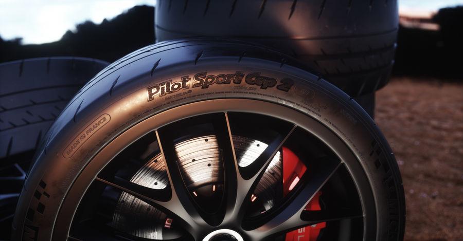 ミシュランスポーツカータイヤ royalty-free 3d model - Preview no. 17