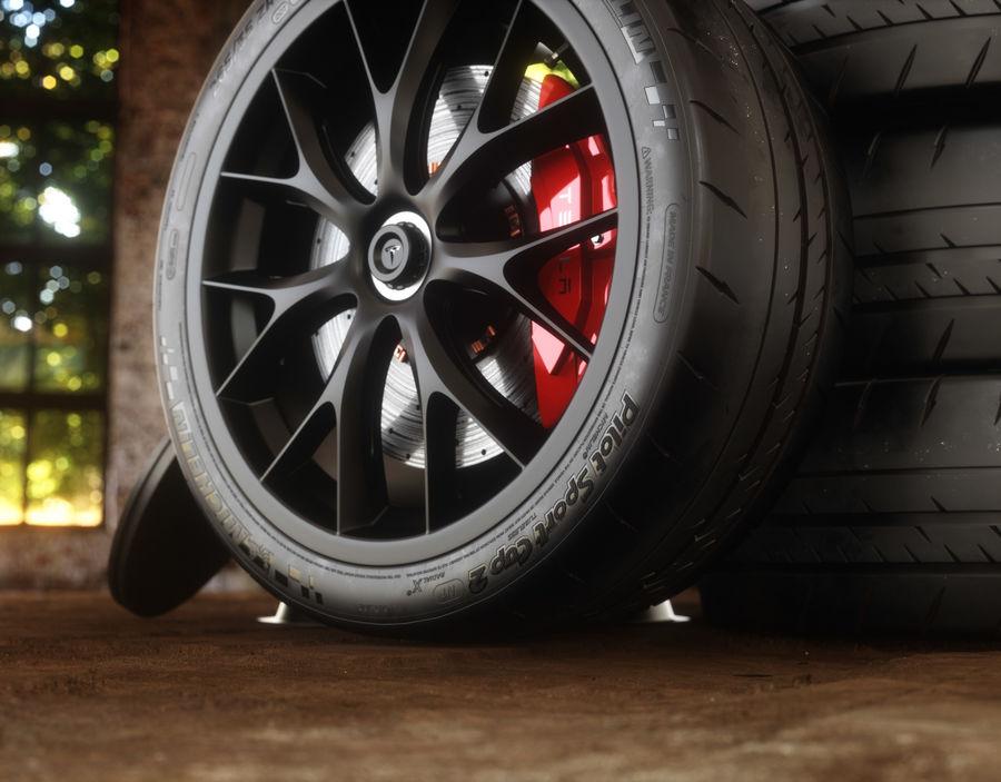 ミシュランスポーツカータイヤ royalty-free 3d model - Preview no. 1