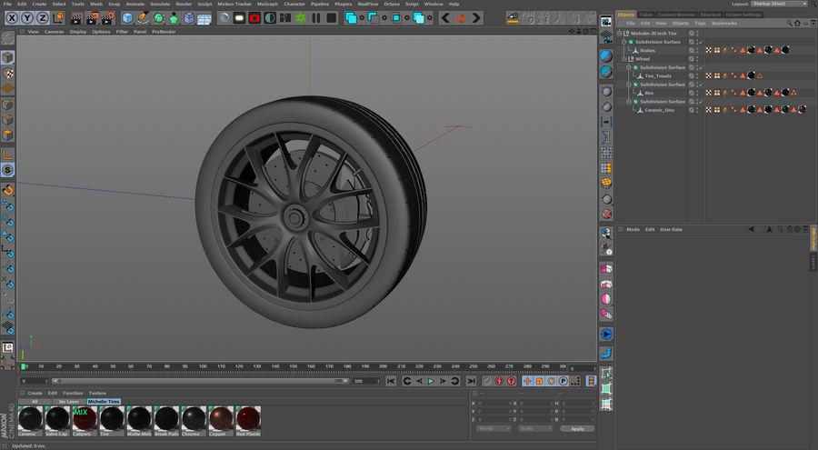 ミシュランスポーツカータイヤ royalty-free 3d model - Preview no. 28