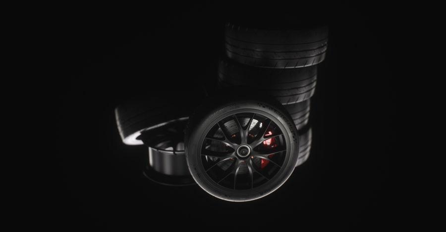 ミシュランスポーツカータイヤ royalty-free 3d model - Preview no. 25