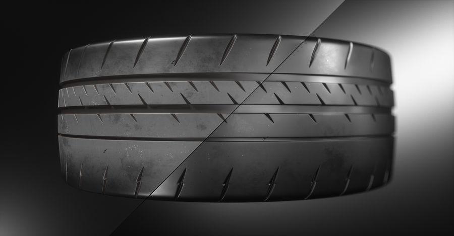 ミシュランスポーツカータイヤ royalty-free 3d model - Preview no. 5