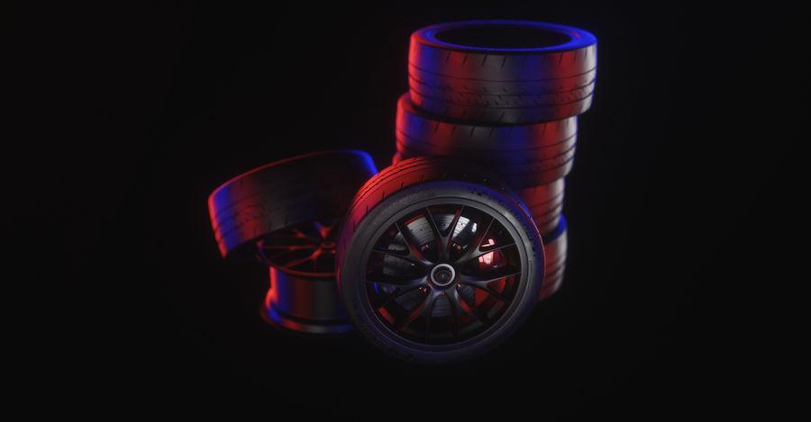 ミシュランスポーツカータイヤ royalty-free 3d model - Preview no. 23