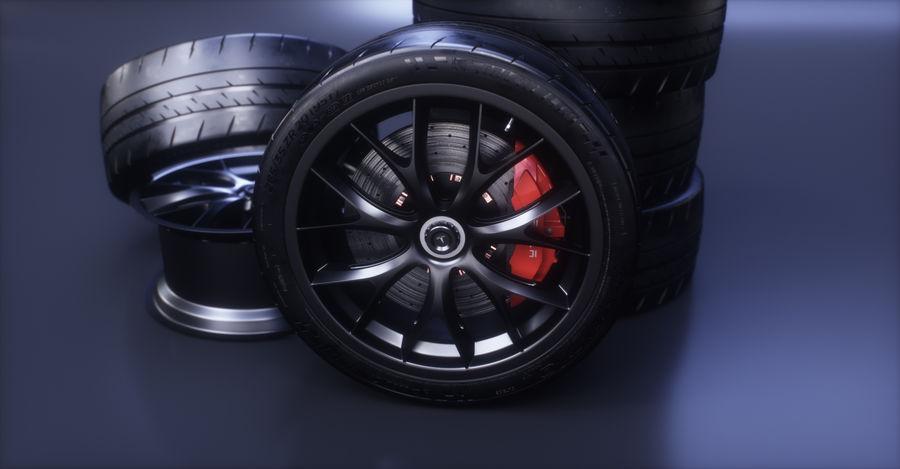 ミシュランスポーツカータイヤ royalty-free 3d model - Preview no. 11