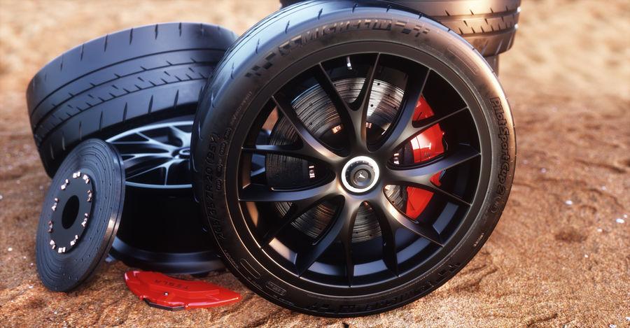ミシュランスポーツカータイヤ royalty-free 3d model - Preview no. 14