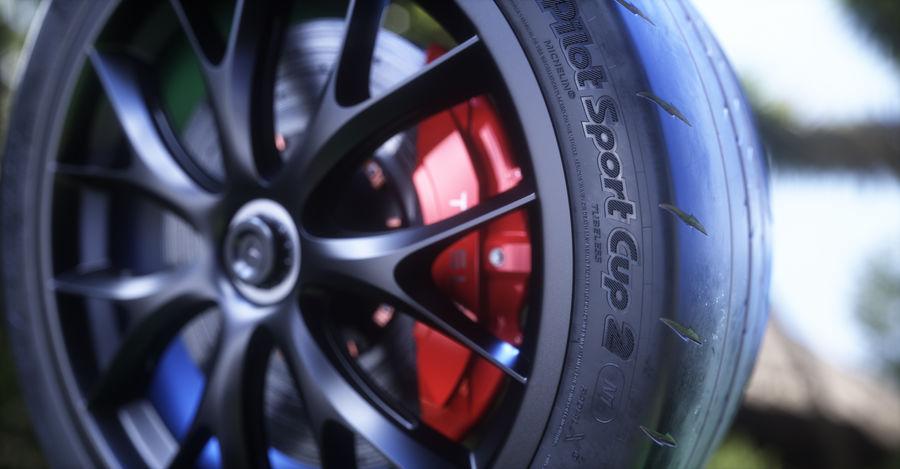 ミシュランスポーツカータイヤ royalty-free 3d model - Preview no. 9