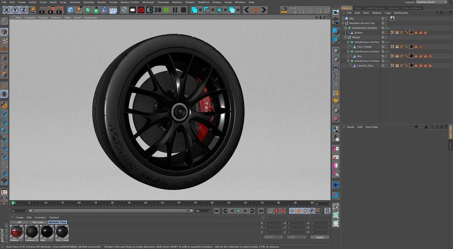 ミシュランスポーツカータイヤ royalty-free 3d model - Preview no. 30
