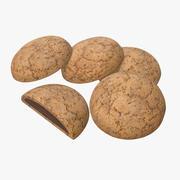 Cookie au chocolat 3d model