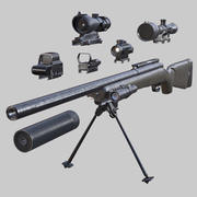 3DRT - Modern firearms HD - M40A1 3d model