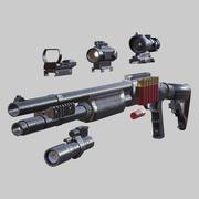 3DRT - Современное огнестрельное оружие HD - Remington 870 3d model