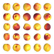 Nectarines pack Lowpoly 3d model