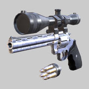 Modern firearms HD - Magnum 44 3d model