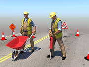 Construction Workers 3d model