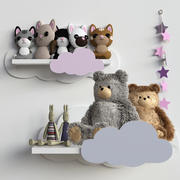 Conjunto de brinquedos de pelúcia bebê 3d model