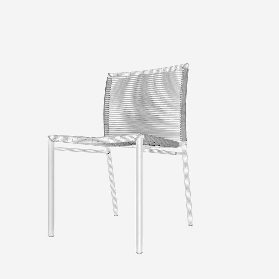 Chair Tidelli Bali royalty-free 3d model - Preview no. 7