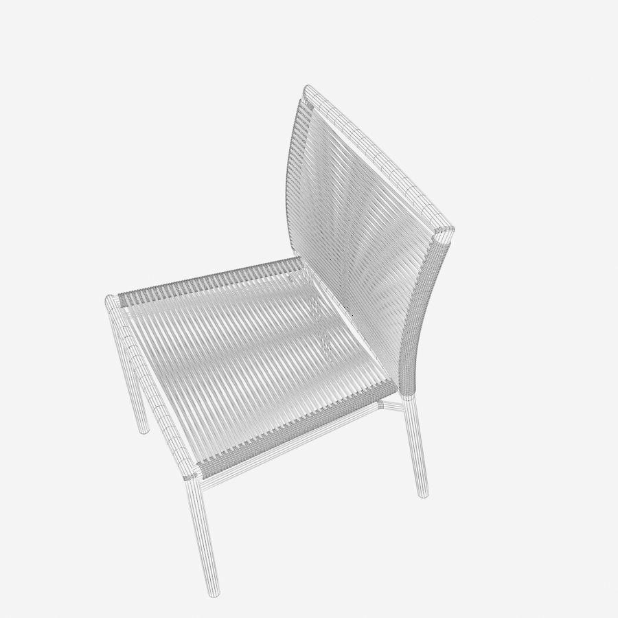 Chair Tidelli Bali royalty-free 3d model - Preview no. 11