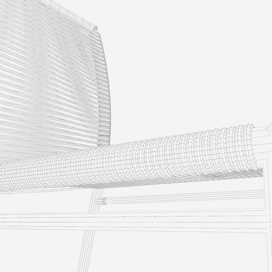 Chair Tidelli Bali royalty-free 3d model - Preview no. 15