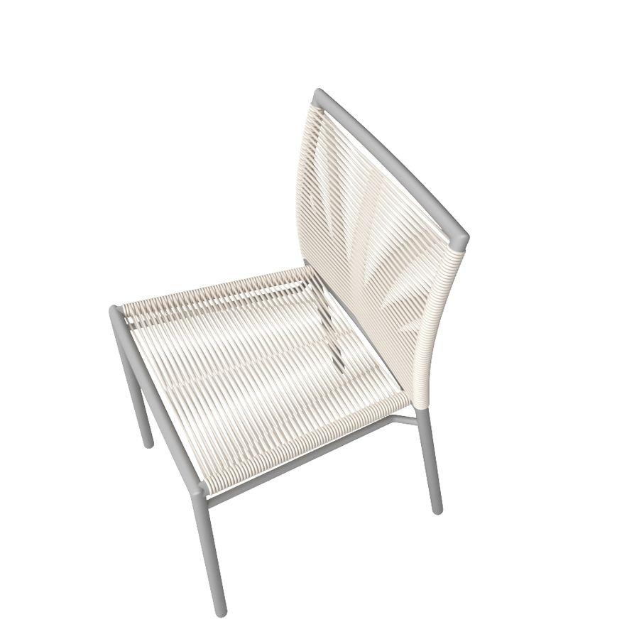 Chair Tidelli Bali royalty-free 3d model - Preview no. 3