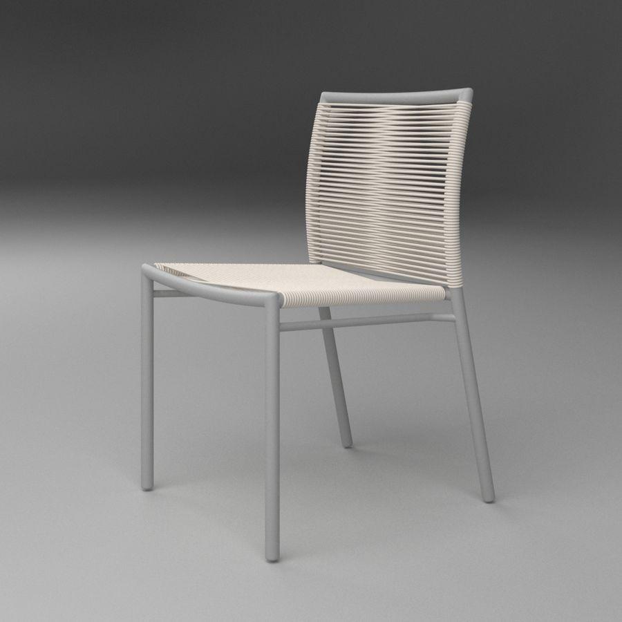 Chair Tidelli Bali royalty-free 3d model - Preview no. 12