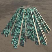 Blade-runner Futuristic Building 3d model