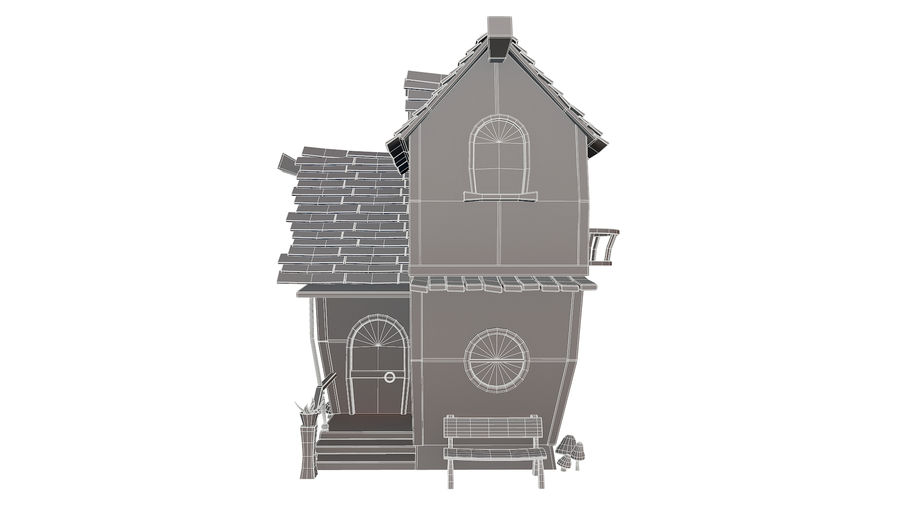 Asset - Cartoons - Background - House 3D model royalty-free 3d model - Preview no. 16