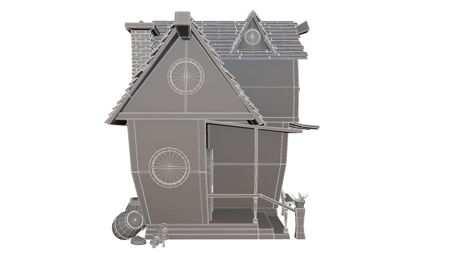 Asset - Cartoons - Background - House 3D model royalty-free 3d model - Preview no. 10