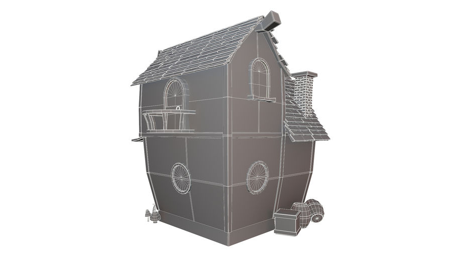 Asset - Cartoons - Background - House 3D model royalty-free 3d model - Preview no. 13