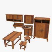 家具セット 3d model