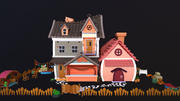 Asset - Cartoons - Background - House 3D model 3d model