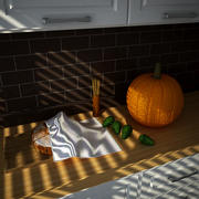 Foods in the Kitchen 3d model