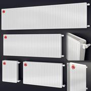 steel heating radiator Vogel Noot 3d model