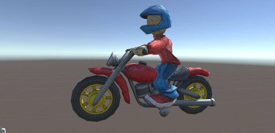 骑自行车的人 royalty-free 3d model - Preview no. 5
