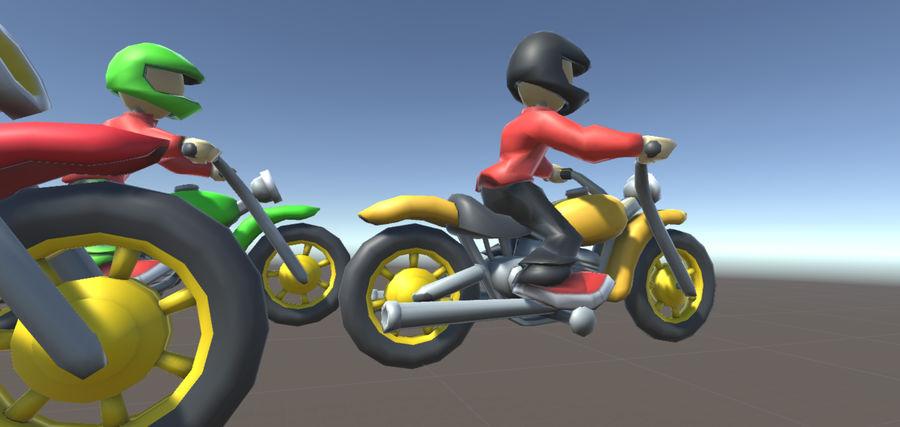 骑自行车的人 royalty-free 3d model - Preview no. 3
