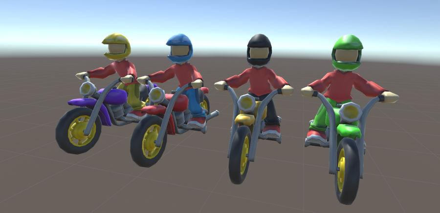 骑自行车的人 royalty-free 3d model - Preview no. 1