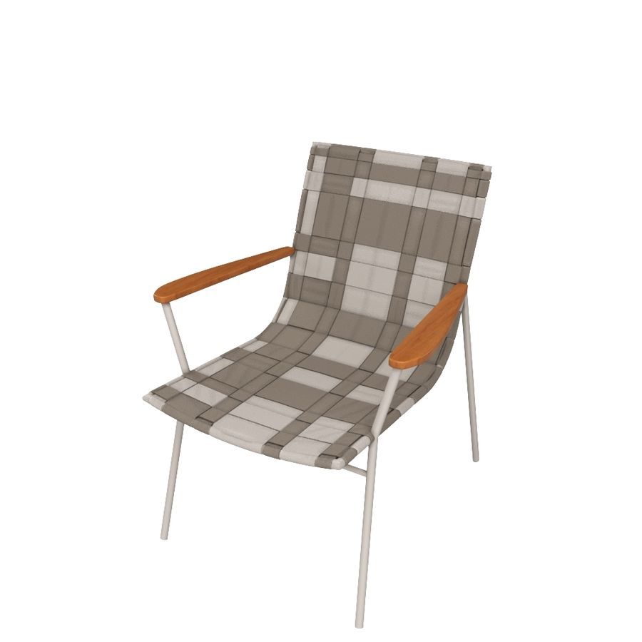 Chair Amado Tidelli royalty-free 3d model - Preview no. 2